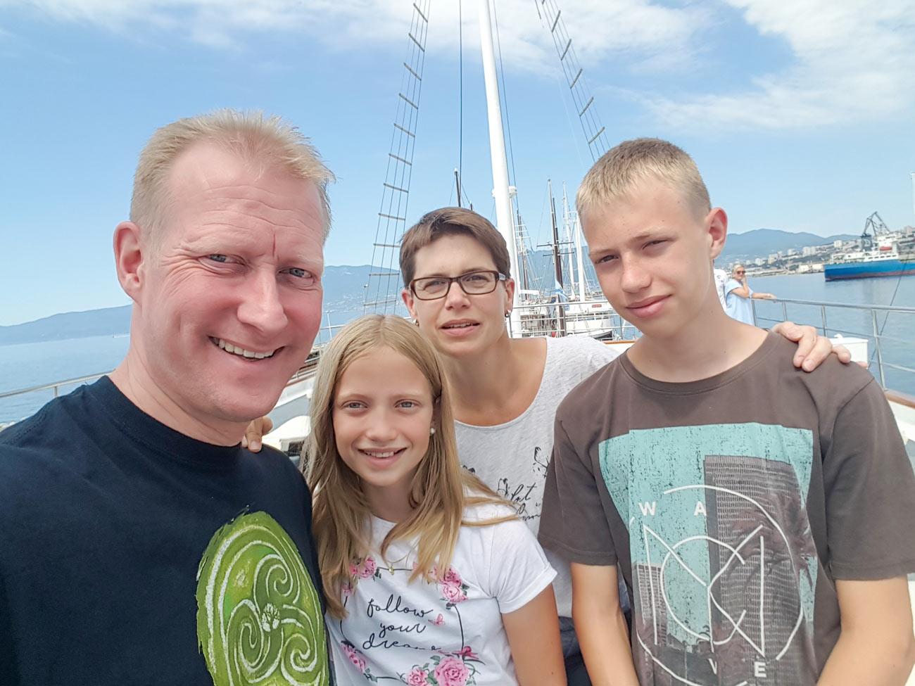 Thomas Meyer mit Familie